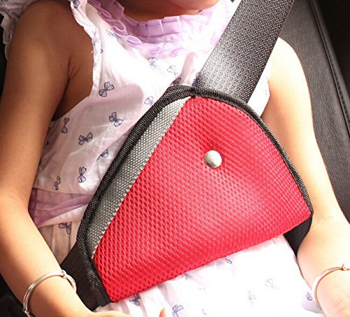 FISHBERG Car Child Safety Cover Harness Strap Adjuster Pad Kids Seat Belt Seatbelt Clip Random Color