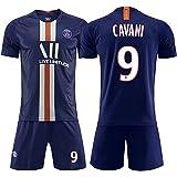 Abito da Calcio Sportivo 19-20 Stagione Paris Uniforme da casa e da Calcio Tuta 7.Mbappé 10.WEYMAR IR t-Shirt Sportiva + Pant