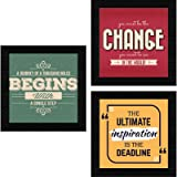 SAF Engineered Wood, Quote, Landscapes, motivational, Flowers Framed Painting, Multicolour, UV Textured, 10 Inch X 10 Inch SA
