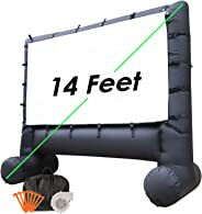 Houseables Projector Screen, Inflatable Outdoor Movie TV, 8.5', 3.5', 10', 1 Pack, Black, Large, Polyester, Portable, Blow Up