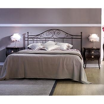 Effetto casa letto in ferro battuto cosatto matrimoniale giusy testata e giroletto - Testata letto matrimoniale ferro battuto ...