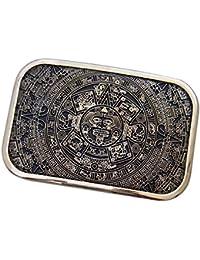 F Fityle Hommes Vintage Calendrier Boucle De Ceinture Avec Azteca Sun  Calendrier Motif Léger Cowboy Ouest c2cb868d9c1