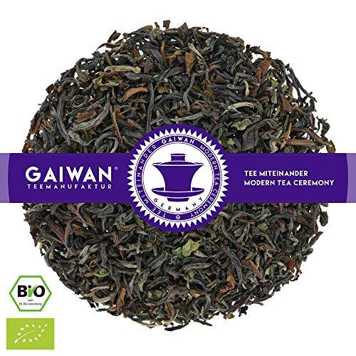 N° 1132: Tè nero biologique in foglie 'Darjeeling Seeyok Inbetween FTGFOP1' - 100 g - GAIWAN GERMANY - tè in foglie, tè bio, tè nero dall'India