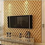 Vliestapete Weiche Tapete, 3D Wandpaneele für TV Wände/Sofa Hintergrund Wall Decor, (weiß, lila, goldgelb, rot, braun), golden yellow