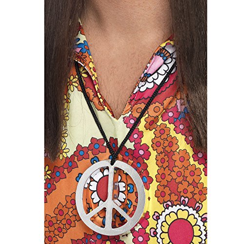 Smiffy's Peace Sign Medallion - Silver