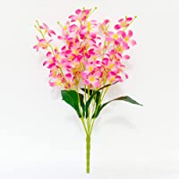 Ashiyanadecors Artificial Orchid Flowers Natural Looking Pink for Home & Garden décor