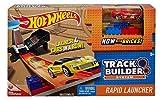 Hot Wheels DWW94 Track Builder Basis Set mit Auto Schnellstarter, Trackset Zubehör mit Bausteine, inkl. 1 Spielzeugauto, ab 6 Jahren