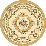 GRENSS amerikanische Continental runde Teppichboden Wohnzimmer Couchtisch pc Drehstühle im Zimmer Schlafzimmer Bett Kante decke Warenkorb Restaurant, Durchmesser 1 M, Y-40 m, Weiß