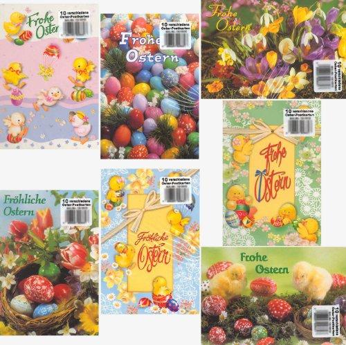 100 Oster-Postkarten diverse Motive Grußkarten Ostern 10 Sets à 10 Karten 13-1010