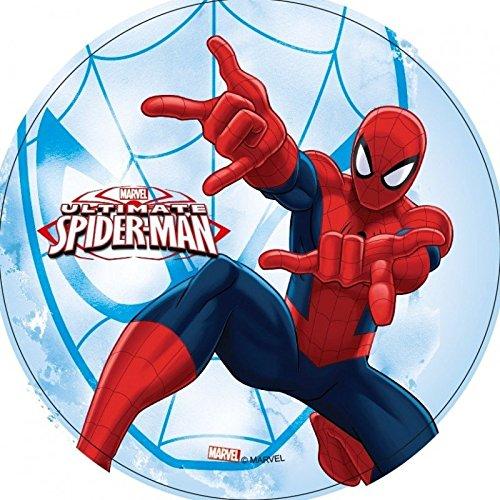 Festplatte Calisson Durchmesser 21cm SPIDERMAN für Dekoration von Kuchen bis der unité- Spiderman 1