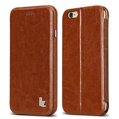 mit integriertem Ständer für iPhone 6 plus/6s plus Braun ()