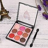 2019,Eyeshadow Palette a buon mercato 9 Colore Perla Luccichio Occhio Ombra Polvere Tavolozza Opaco Ombretto Cosmetico Trucco