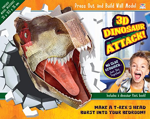 3D Dinosaur Attack! (Press Out & Build Wall Model)