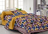 #10: Story@Home Fantasy 100 % Cotton Floral Basic Single Bedsheet with 1 Pillow Cover, Yellow