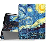 Fintie IPad 2/3/4 Case - Ultra Slim Tri-Fold Smart Cover Lightweight Stand Case Supports Auto Wake/Sleep For IPad 4th Generation With Retina Display, IPad 3 & IPad 2 - Starry Night