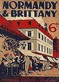 Vintage Travel Frankreich für Normandie und Bretagne mit