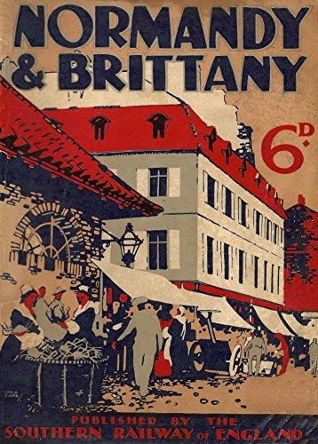 Vintage Travel Frankreich für Normandie und Bretagne mit Southern Railways 'World of Art ART CARD c1934250gsm, Hochglanz, A3Guide Cover, vervielfältigtes Poster