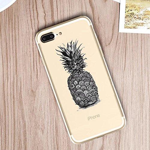 iPhone 7 Plus Hülle, MOMDAD Transparent Malerei [Cartooon Tier Serie] Handyhülle für iPhone 7 Plus Handytasche Ultra Thin Crystal TPU Silikon Pattern Muster Weich Rückseite Case Cover mit Anti-Kratzer Design 6