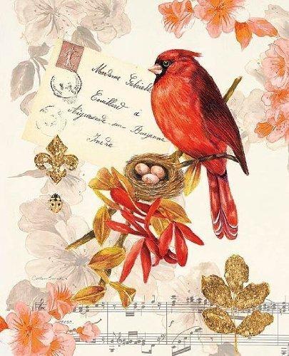 tableau prêt - Colleen Sarah : étagère Cardinal 24 x 30 cm