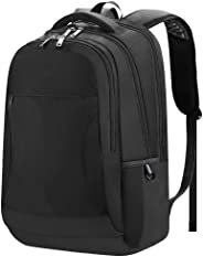 MMPY Laptop Backpack, Anti-Theft Business Travel Work Computer Rucksack With USB Charging Port, 15.6-17 Inch Water Resistant