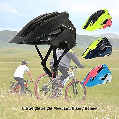 Lixada Mountain Bike Helmet Cycling Bicycle Helmet Sports Safety Protective Helmet 13 Vents Comfortable Lightweight Breathable Helmet for Adult Men/Women from Lixada