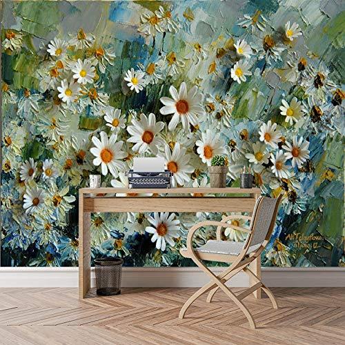 Cucsaistat 3D Fototapete Ölgemälde Blume Tapete Wohnzimmer Nacht Tv-Tapete