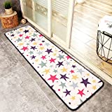 Cartoon-Muster Eingangstür Matte, Mats Foyer Schlafzimmer Tür mit Pad Teppich Küche Staubentfernung im Haushalt-A-45x120cm(18x47inch)