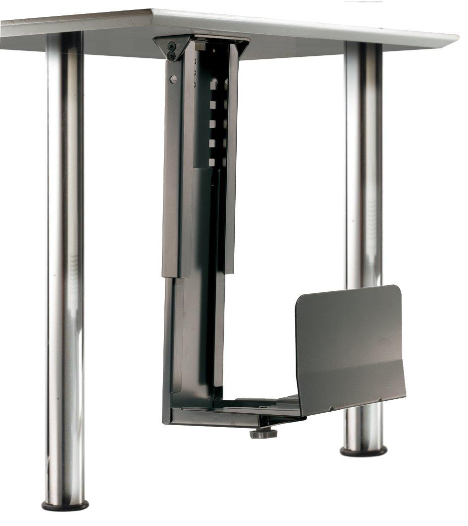 ROLINE Mobiletto salvaspazio porta-PC con robusta struttura in acciacio color nero