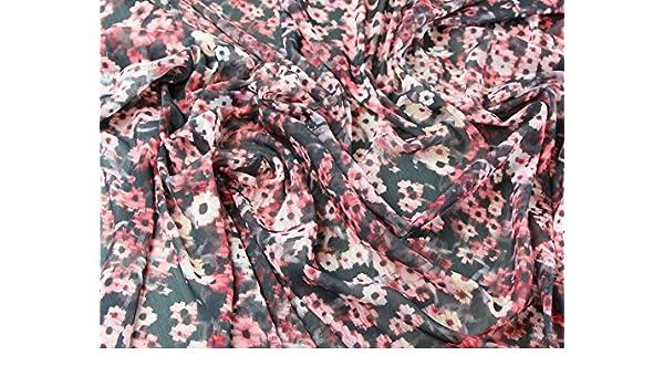 verwackelte Floral Print Polyester Crinkle Georgette-Kleid Stoff pink –  Meterware  Amazon.de  Küche   Haushalt 124857c17f
