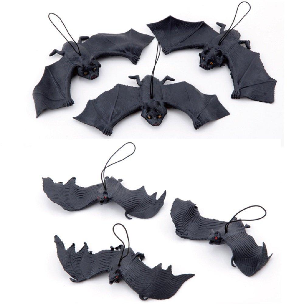 XONOR 10 Stücke Halloween-Dekor Realistische schauende gespenstische hängende Fledermäuse für Beste Halloween-Party…