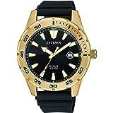 Citizen Mens Quartz Watch, Analog Display and PU Strap - BI1043-01E