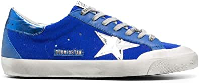 Golden Goose Luxury Fashion Uomo GMF00175F00125750595 Blu Pelle Sneakers | Ss21