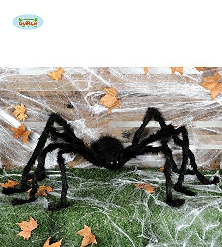 Guirca Halloween Schwarze Riesen Spinne mit Leuchtenden Augen -