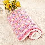 Haustierzubehör Betten Haustier Katze/Hund Decke Fleece Stoff weich waschbar und niedlich warme Pflege für rosa Stern L, 75x55cm