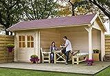 Outdoor Gartenhaus/Blockbohlenhaus Kenzo 300