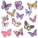 Wandkings Adesivi da parete Farfalle colorate Set adesivi - 14 adesivi su 2 fogli DIN A4