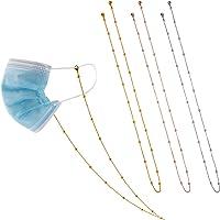 TOYMIS 3-teiliger Masken Halter Kette Halskette Metall Brille Halter Maske Riemen Extender Kette (Gold, Pink, Silber)
