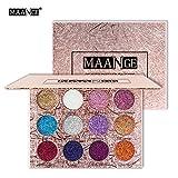 Maange 12 colori ombretto Palette Ombretto Shimmer Matte Occhi Ombra Occhi Make Up Cosmetici Bellezza