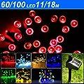 Yesurprise 60 rot solar LED Lichterkette Außen Beleuchtung Weihnachten Gartendekoration von Yesurprise.co.ltd - Lampenhans.de