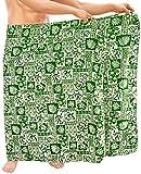 LA LEELA Strandklage tropischen Pareo Sarong Vertuschung Männer Badeanzug Schwimmen Baden grün Wickeln