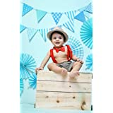AMFIN® First Birthday Decoration Combo for Baby Boy - Blue