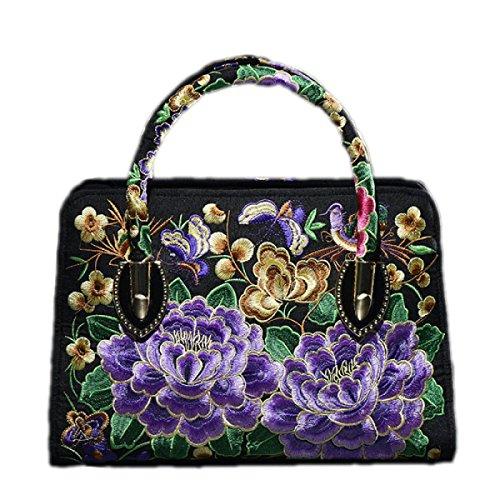QPALZM QPALZM Handtasche Frau 2017 Handtasche Stickerei Messery Tasche Handtasche Umhängetasche Leinwand A5