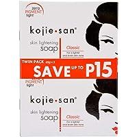 KOJIE SAN KOJIC SKIN WHITENING LIGHTENING SOAP 2 bars X 65 grams PUSA JAPAN Original by Kojie