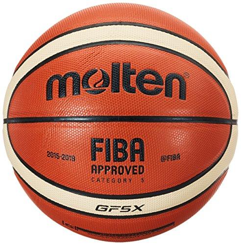 Molten Uni parte Naranja Talla 5Balón de baloncesto, color naranja/ivory, 5