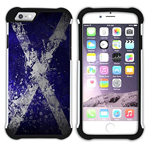 Graphic4You Schottland Schottisch Flagge Hart + Weiche Kratzfeste Hülle Case Schale Tasche Schutzhülle für Apple iPhone 6 Plus / 6S Plus Design #6