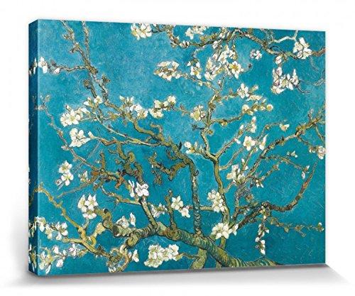 Preisvergleich Produktbild 1art1 56837 Vincent Van Gogh - Blühende Mandelbaumzweige,  1890 Poster Leinwandbild Auf Keilrahmen 80 x 60 cm