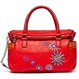 Desigual Rojo, borsa da donna Bols_Ada Loverty con manici, colore: rosso