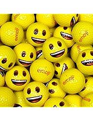 Emoji Smiley Face–Pelotas de golf (100unidades), color amarillo