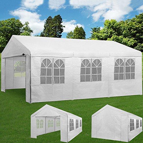 Deuba Partyzelt 6x3m Pavillon Festzelt Carport Bierzelt Gartenzelt Familienzelt Zelt  12...