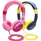 EasySMX 2-Pack-Kinderkopfhörer, verdrahtete Ohrenschützer für Kinderkopfhörer, 85db-Lautstärkebegrenzer…